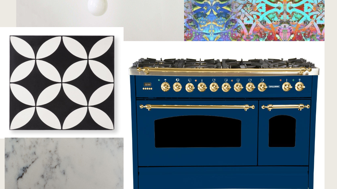 One Room Challenge        WEEK 1 : Visions for a Bold Boho Kitchen